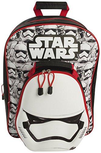 Star Wars stw7-8345-2Stormtrooper Rucksack mit Abnehmbarer Lunch Bag, Mehrfarbig