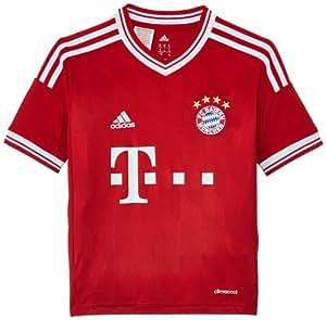 adidas Kinder kurzärmliges Trikot FC Bayern Home Jersey Youth, Fcbtru/Wht, 176, G74178