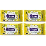 Wippee 30N Usable Baby Wipes With Almond Oil ( Pack Of 4)