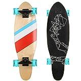 Lonlier Monopatín Completo Skateboard Cruiser Longboard Vintage para Adultos y Niños