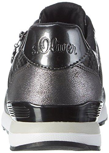 s.Oliver 23655, Scarpe da Ginnastica Basse Donna Nero (BLACK COMB 98)