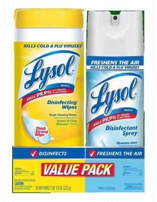 RECKITT BENCKISER - Disinfecting Wipes, Lemon/Lime Blossom Scent, 35-Ct.