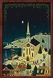 Toland Home Garden 1110528'Navidad ciudad invierno/vacaciones' decorativa bandera de Jardín, tela, S-12.5 x 18'