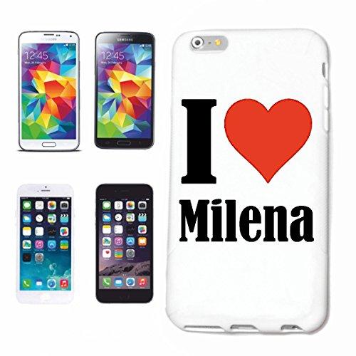 """Handyhülle iPhone 7+ Plus """"I Love Milena"""" Hardcase Schutzhülle Handycover Smart Cover für Apple iPhone … in Weiß … Schlank und schön, das ist unser HardCase. Das Case wird mit einem Klick auf deinem Smartphone befestigt"""