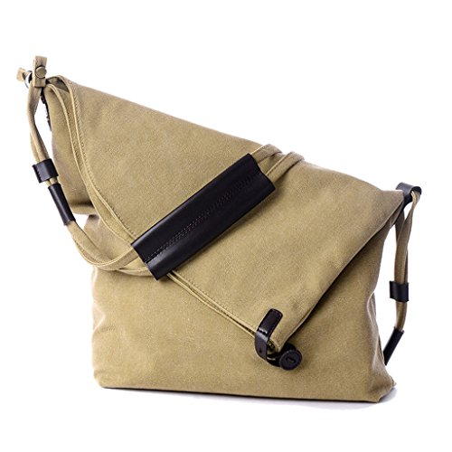 Supa Moden Damen Canvas Schultertasche Hobo Taschen Handtasche Crossbody Schultertasche weekener-Tasche Khaki