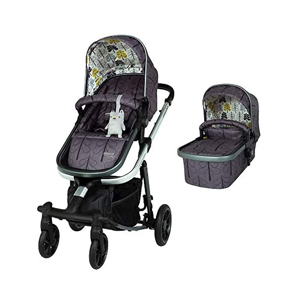 Cosatto Giggle Quad Pram & Pushchair Fika Forest Cosatto Enhanced performance. unique tyre material and all-round premium suspension give air-soft feel. Comfy all-round. spacious carrycot for growing babies.  washable liner. reversible reclining seat. Ultimate buy. tested up to a mighty 20kg for even longer use. big 3.5kg capacity basket for big shop 1