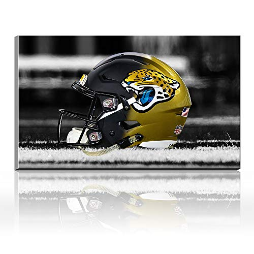 Acryl Super Bowl NFL Jacksonville Jaguars Football Logo Sport Artist Landscape Poster Ölgemälde Giclée-Leinwand Baumwolle Drucke Bild Wandkunst Acryl Kunst Heimdekoration Geschenk 28x40inch frameless (Jaguars Jacksonville Logo-poster)