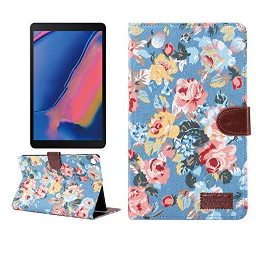 WOB Schutzhülle für Samsung Galaxy Tab A 8 Zoll 2019 P200/P205,Kunstleder Schutzhülle mit Ständer Funktion Folio-Fall Falten mit Automatischem Schlaf Funktion und Standfunktion (Blau) (Mit Ständer 8-zoll-tablet-fall)