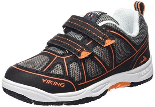 Viking Hugin, Sneakers basses mixte enfant Noir (Black/Orange 231)