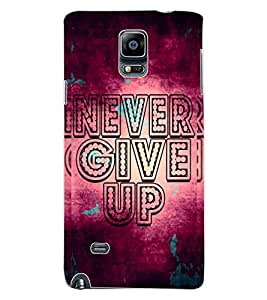 ColourCraft Quote Design Back Case Cover for SAMSUNG GALAXY NOTE 4