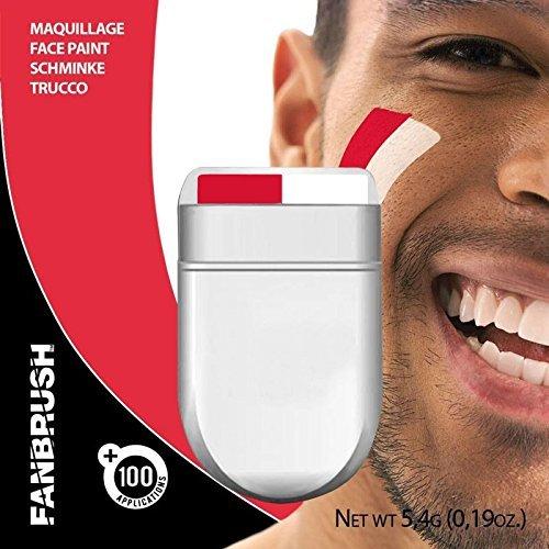 rot und weiß Fächer Pinsel Gesicht & Körper -