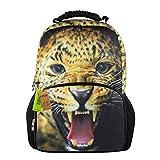 Animal-Zaino con speciale Diverse-Zaino per la scuola e da sport, da interni ed esterni Leopardato