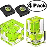 ChromLives Kamera Hot Shoe Cover Hot Schuh Level 2 Axis Bubble Wasserwaage für DSLR Film Kamera Canon Nikon Olympus, Combo Pack - 2 und 1 Achse, Hot Shoe Level Compo Pack