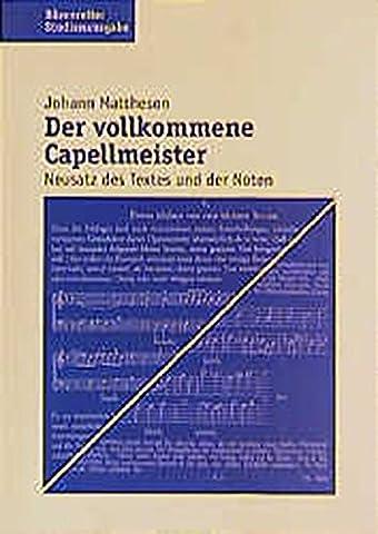 Der Vollkommene Capellmeister