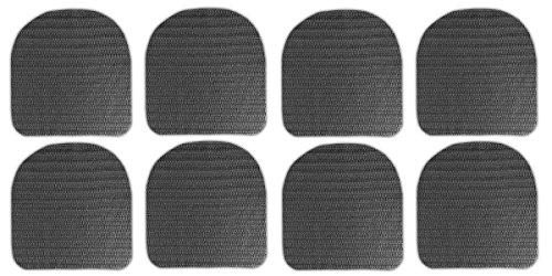 8x Antirutschmatte für Stuhlkissen Rutschmatten Stuhlauflagen Gummimatte Kissen
