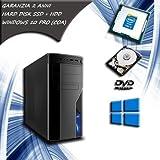 Computer fisso INTEL CORE i5 QUAD CORE pc desktop SSD 120 HDD 1 TB RAM 8 GB WINDOWS 10 PRO COA STICKER - WiFi - ALTE PRESTAZIONI SISTEMA OPERATIVO COMPLETO