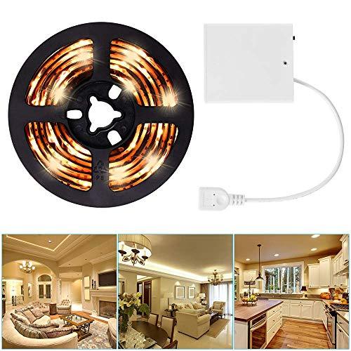 2m LED Strip Lights USB oder batteriebetriebenes USB LED Light Strip Kit 6.6FT Wasserdichtes, superhelles LED Tape Light Warmweiß