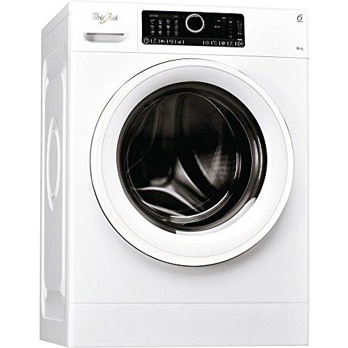 Whirlpool FSCR 90412 Lavatrici carico frontale 9kg (Libera installazione, Caricamento frontale, Rotante, Touch, Sinistra,), Bianco