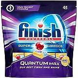 Finish Quantum Max Dishwasher Tablets - Lemon (Total 45 Tablets )