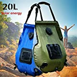 TEQIN 20L Solar Shower Bag Outdoor Camping Hot Water Bottle