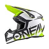 O'Neal 5Series MX Helm Blocker Schwarz Neon Gelb Hi-Vis Motocross Enduro Quad Cross, 0618-02, Größe S (55/56 cm)