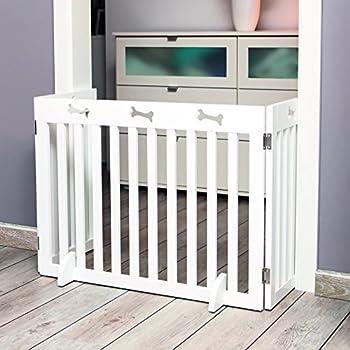 Trixie Barriere de Sécurité pour Chien Blanc 82/124 x 61 cm 3 Pièces