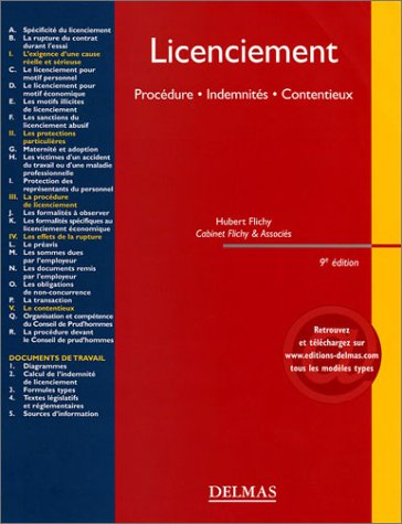 Licenciements : Procdure - Indemnits - Contentieux