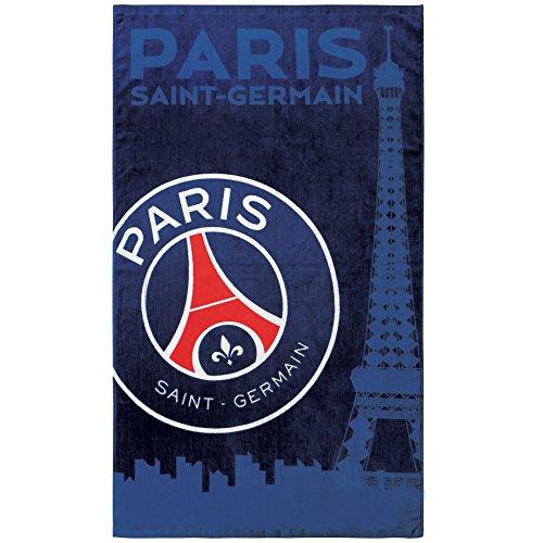 PSG Drap de Plage Coton, Bleu, 120x70 cm