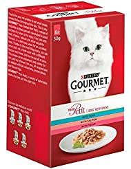 Gourmet Mon Petit with Tuna Salmon and Trout Adult Wet Cat Food, 6 x 50g