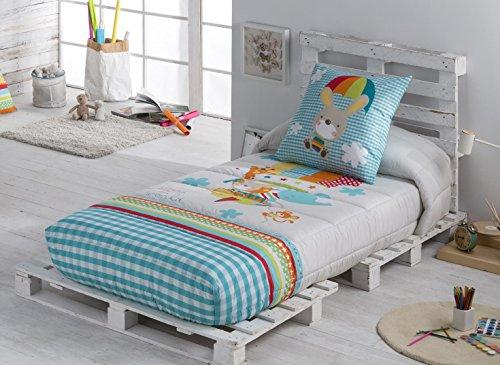 Textilonline - Edredon Ajustable Globus Cama 90 cm