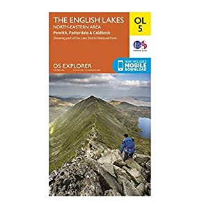ORDNANCE SURVEY Explorer OL5 The English Lakes - North Eastern area Map With Digital Version