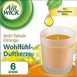 Air Wick Wohlfühl-Duftkerze Duo Orange, Anti-Tabak Kerze, Duftkerzen im Glas,  (3 x 2 x 105g)Stücke