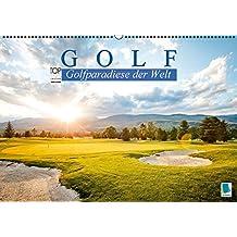 Golf: Golfparadiese der Welt (Wandkalender 2016 DIN A2 quer): Wie gemalt – Golf- und Landschaftsarchitektur (Monatskalender, 14 Seiten) (CALVENDO Sport)