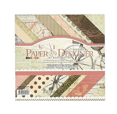 Shopaholic 7X7 Romatic Series Craft papers- 18 Design, 36 papers, 4 die cut sheets ( DSM013)