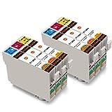 vivink 6pk cartuchos de tinta compatibles para Epson T1302T1303T1304para Stylus SX525WD, SX535WD, SX620FW Stylus office B42WD, BX525WD, BX535WD