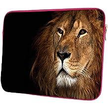"""snoogg roi lion 30,5cm Étui à rabat pour Kindle à 31,8cm """"à 32cm"""" Sacoche Housse Coque souple Housse de transport pour MacBook Pro pour ordinateur portable ACER ASUS HP Dell Sony Toshiba Lion King Designer rose"""