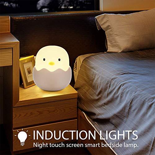 iKALULA LED Nachtlicht Kinder, Silikon LED Nachtlampe Baby LED Stimmungslichter USB Aufladbar Nachttischlampen Schlummerleucht Touch Lampe für Schlafzimmer, Babyzimmer, Wohnräume Tisch Licht - Wohnräume, USB, Touch, Tisch, Stimmungslichter, Silikon, Schlummerleucht, Schlafzimmer, Nachttischlampen, nachtlicht babyzimmer, Nachtlicht, Nachtlampe, Licht, LED, Lampe, Kinder, iKALULA, für, Babyzimmer, Baby, Aufladbar