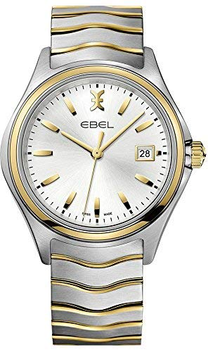 Ebel Wave Silver Dial Two Tone Mens Watch