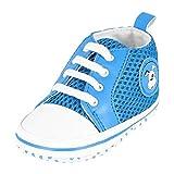 KREXUS 36 - Neugeborene Baby Schuhe - Viele Farben - Krabbelschuhe - Hausschuhe - Baby - Mädchen - Jungen (Blau, 12-18 Monate, XB01503-12)