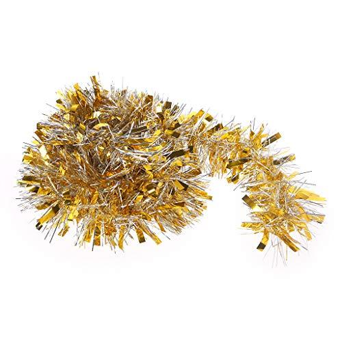 (Kofun Bunte Weihnachtsbaum Bar Kranz Dekoration Ornamente Wandbehang Garland 2M Gold Silber)