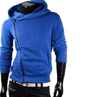 Herren Sweatjacke Hoodie Pullover Herren Pulli Hoodie sweatshirt (XXL, Blau)