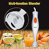 0Miaxudh Stabmixer, 300W Elektromixer, Multifunktions-Küche-Ei-Kuchen-Baby-Nahrungsmittelprozessor-Stock wischen Juicer-Mischer