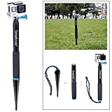 Smatree SmaSpike K1 Aluminum Pole with Spike Foot for GoPro Hero 5/4/3+/3/2/1/Session (11