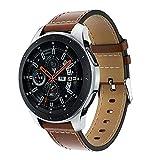 Janly Les Bracelets de Montre pour Samsung Galaxy Watch, 22mm Accessoires de Courroie de dragonne en Cuir de Remplacement pour Samsung Galaxy Watch 46mm (B)