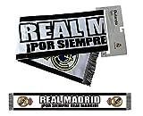 "Scarf Official REAL MADRID. ""Por siempre Real Madrid""- Black Color (140 x 20cm)"