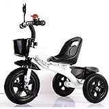 FADACAI niño Triciclo carretilla bicicleta 1-8 años de edad bebé juguete Paseante Bebés y niños pequeños Carros , black
