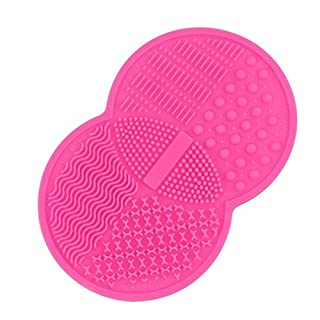 HENGSONG Pinselreiniger Make Up Pinsel Reinigung Reinigungsmatte Silikon Pinselreiniger Brush Cleaner Pinsel Matte Kosmetik, Rosa