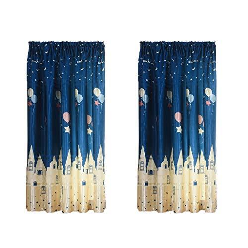 Rabatt-lift Stühle (TianranRT Verdunkelungsvorhang,2 Stück Schrauben Tüll Türfenster Türvorhang Drapieren Panel Transparenter Schal Einfache Volants Heimtextilien (100X200Cm),Blau)