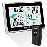 Qomolo Stazione Meteorologica Wireless Termometro Igrometro Digitale con Schermo...