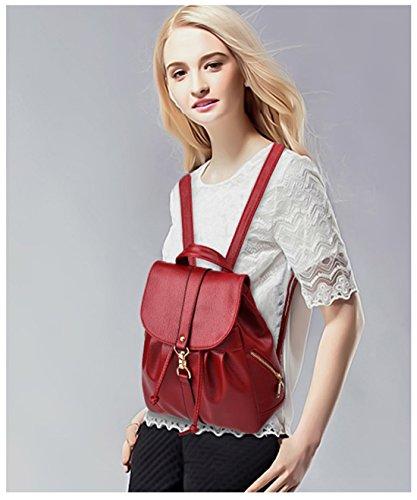 Imagen de tibes  de cuero pu  escolar pequeña  impermeable bolsos  bolsos para mujer vino rojo alternativa